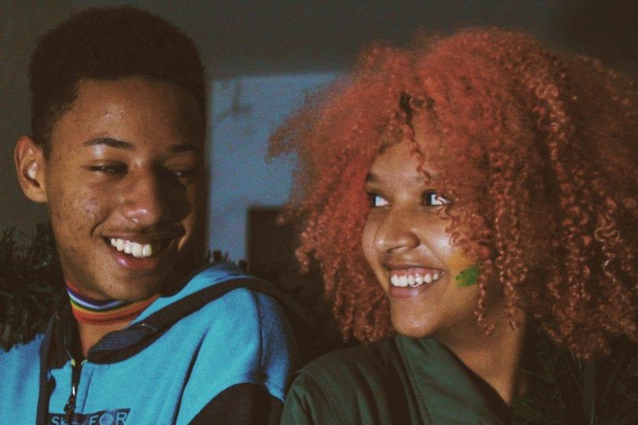 black teens smiling
