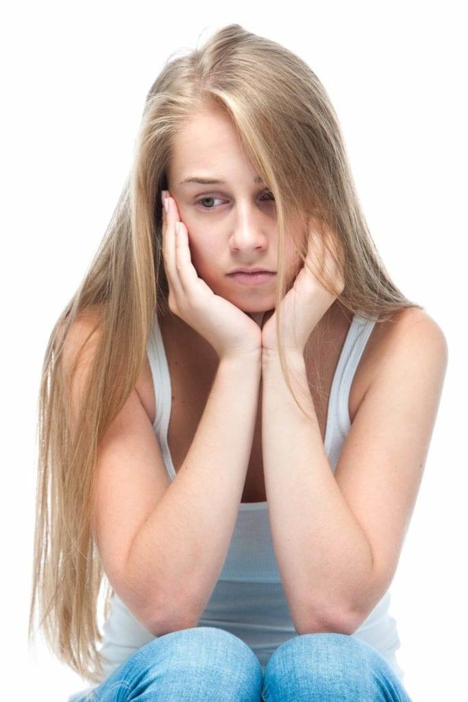 struggling teen girl