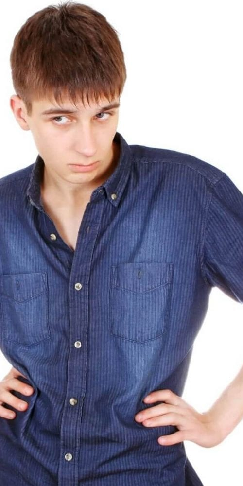 struggling teen boy
